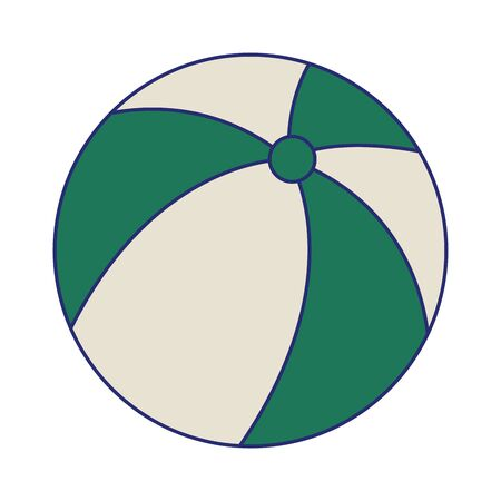 Beach ball cartoon isolated symbol vector illustration graphic design Ilustración de vector