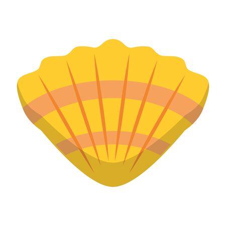 Shell sea molusk cartoon isolated symbol vector illustration graphic design