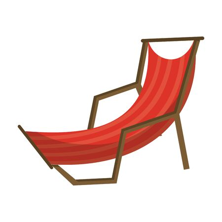Beach sunchair isolated cartoon symbol vector illustration graphic design