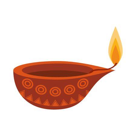 indian traditional lamp icon cartoon vector illustration graphic design Illustration
