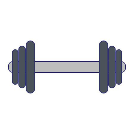 Gym dumbbell sport equipment vector illustration graphic design