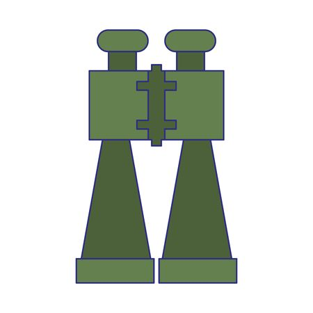 Binocular camping and spy device vector illustration graphic design