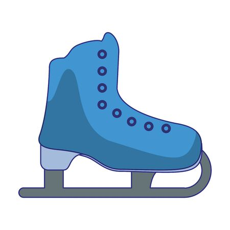 Ice skate boot sport symbol vector illustration graphic design Illusztráció