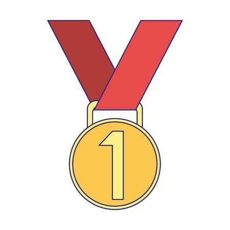 First place medal award symbol vector illustration graphic design Standard-Bild - 129228045