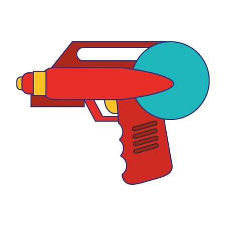 Water handgun pistol toy cartoon vector illustration graphic design