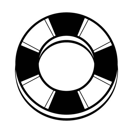 Ring lifesaver float summer isolated symbol vector illustration graphic design Ilustración de vector