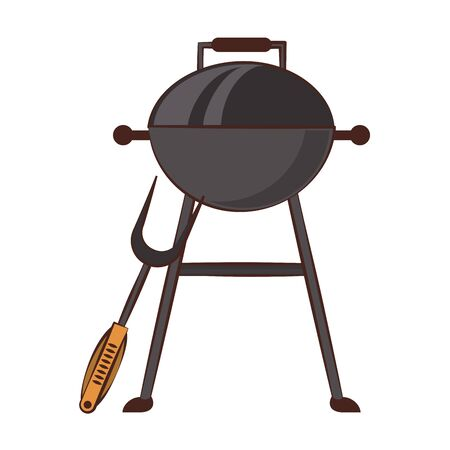 Barbecue grill equipment for cook isolated vector illustration graphic design