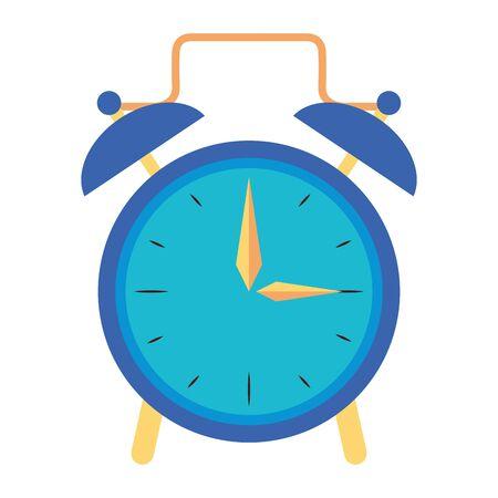 Clock with alarm bells isolated symbol vector illustration graphic design Vektorové ilustrace