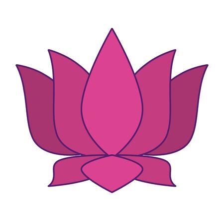 lotus blossom flowers nelumbo nucifera gaertn icon cartoon vector illustration graphic design Standard-Bild - 129219907