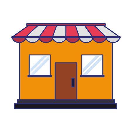 Store shop building isolated symbol vector illustration graphic design Иллюстрация