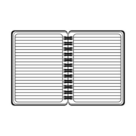 blank notepad open symbol isolated vector illustration graphic design