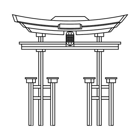 China entrance monument isolated symbol vector illustration graphic design Foto de archivo - 129221393