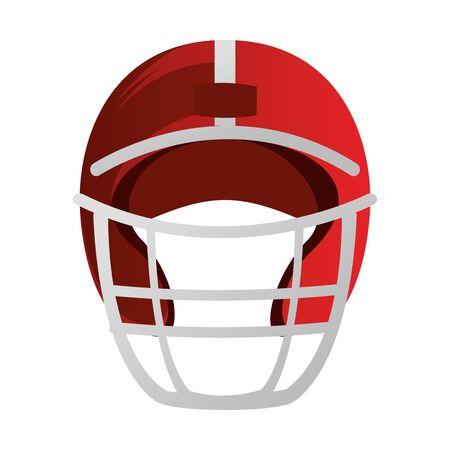 american football sport game helmet uniform protection accesory cartoon vector illustration graphic design