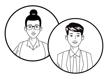 group of business people smiling Ilustracja