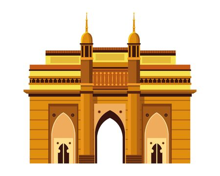 indian building monuments with charminar icon cartoon vector illustration graphic design  イラスト・ベクター素材