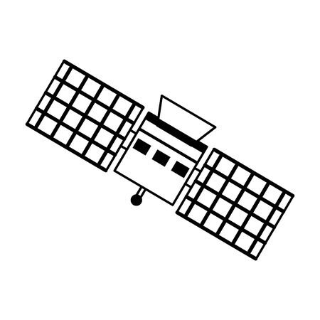 Space satellite technology symbol isolated vector illustration graphic design