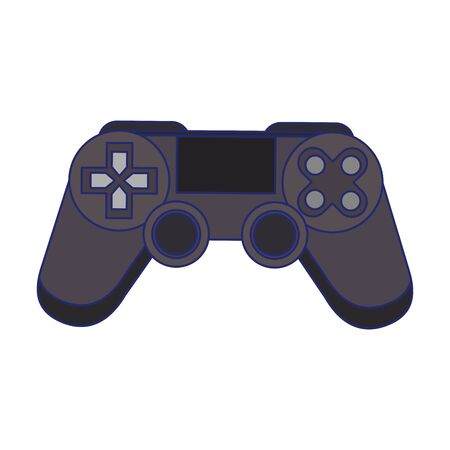 Modern videogame console gamepad with buttons vector illustration graphic design Ilustração
