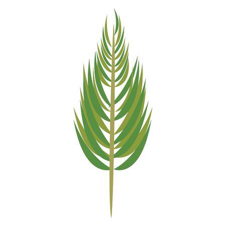 palm leaf icon cartoon isolated vector illustration graphic design Stock Illustratie