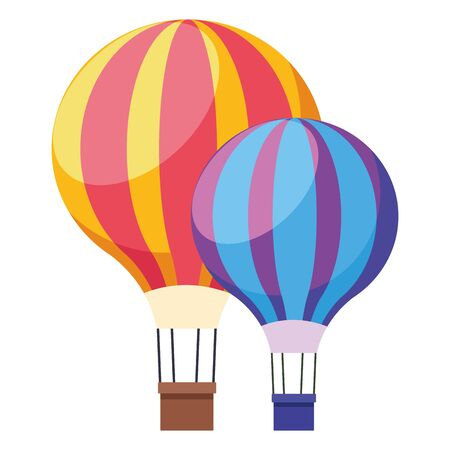 colorful hot air balloons symbol isolated vector illustration graphic design Ilustracja