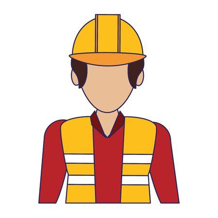 Warehouse worker faceless avatar profile logistics job concept vector illustration