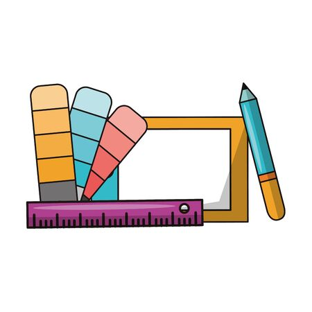 Graphic design digital software tools and symbols for creative process, art and ideas. illustration editable image