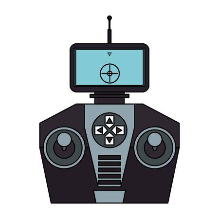 air drone remote control technology device cartoon vector illustration graphic design Çizim