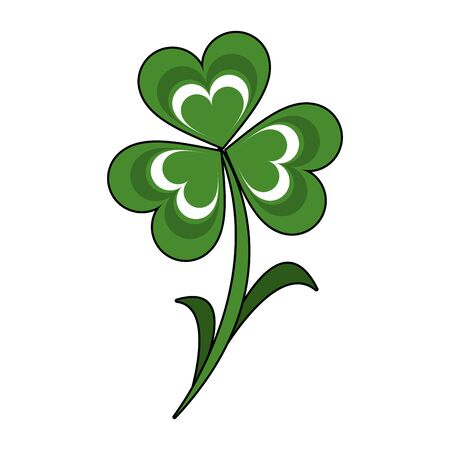 saint patricks day irish tradition clover isolated cartoon vector illustration graphic design
