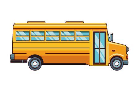 school bus icon cartoon isolated vector illustration graphic design Ilustração