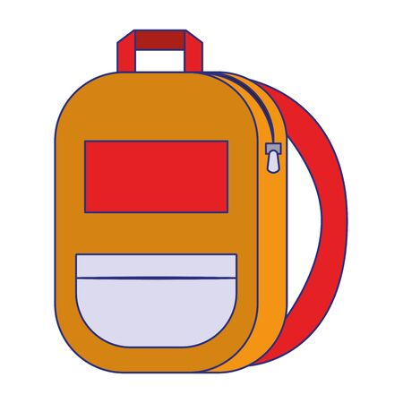 Backpack school supply isolated symbol vector illustration graphic design Ilustrace