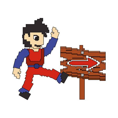 videogame pixelated retro art digital entertainment, arcade character play mode cartoon vector illustration graphic design