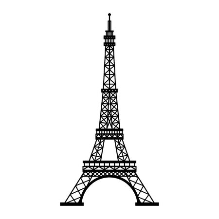 Eiffel tower paris monument isolated vector illustration graphic design