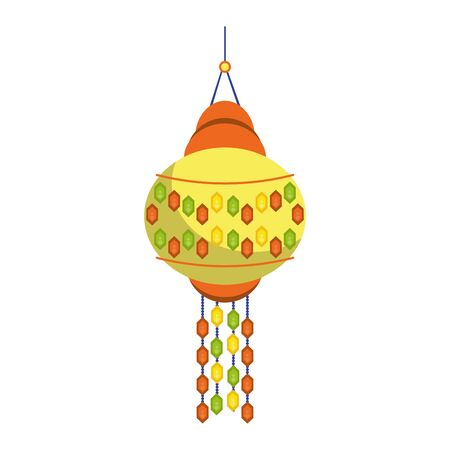 Indian paper lights isolated cartoon symbol vector illustration graphic design Illustration