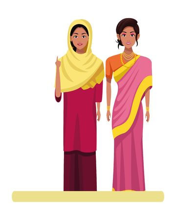 indian women wearing traditional hindu clothes woman with sari and jewelry woman with sari and hiyab profile picture avatar