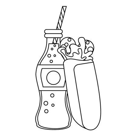 Wrap with soda bottle food vector illustration graphic design Ilustracja