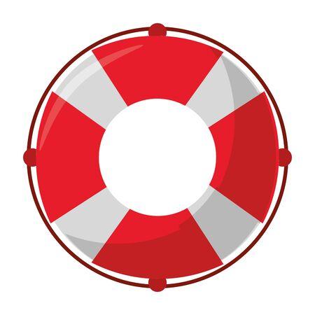 Float lifesaver cartoon isolated symbol vector illustration graphic design