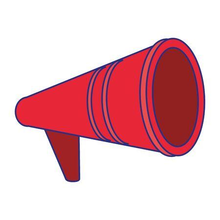 Bullhorn advertising symbol isolated cartoon vector illustration graphic design
