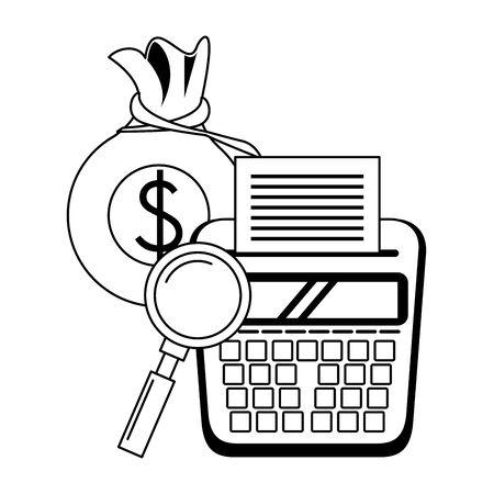 saving money business personal finance balance calculate elements cartoon vector illustration graphic design 向量圖像