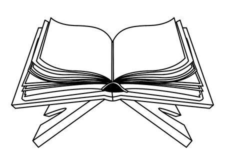 Blank book open on shelf vector illustration graphic design Zdjęcie Seryjne - 129260505