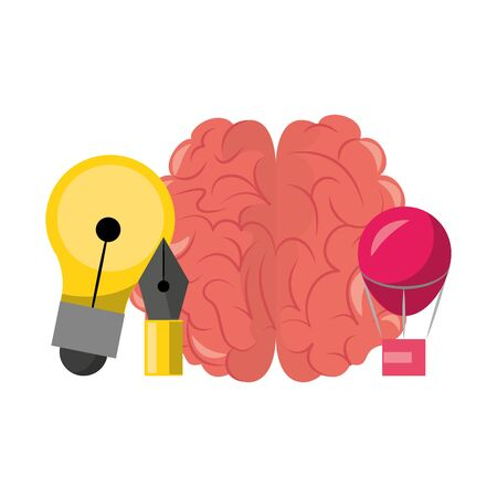 Graphic design digital tools and symbols for creative process, art and ideas. illustration editable image  イラスト・ベクター素材