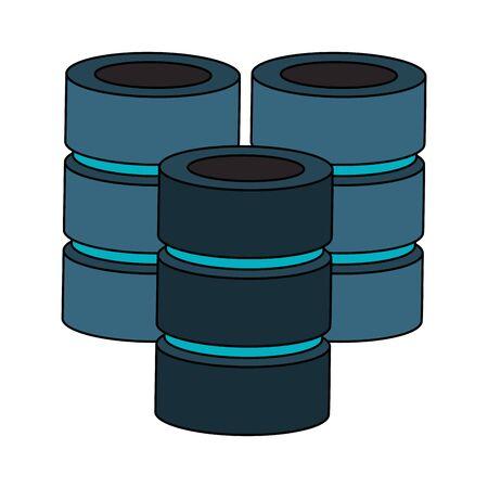 Database servers disks technlogy symbol vector illustration graphic design Stock Illustratie