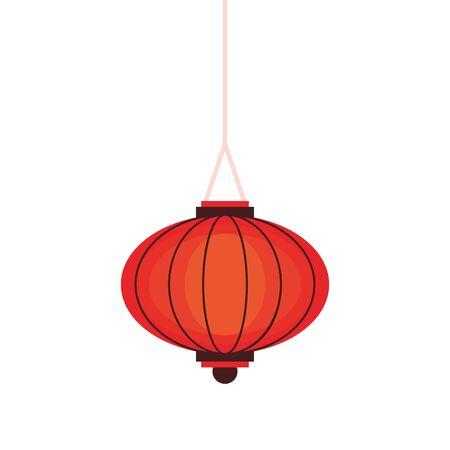 oriental chinese lantern lamp red light decoration cartoon vector illustration graphic design