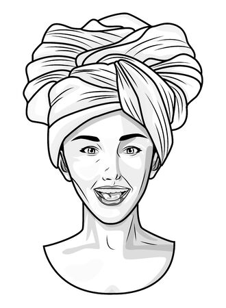 Pop art beautiful afro american woman cartoon ,vector illustration graphic design.