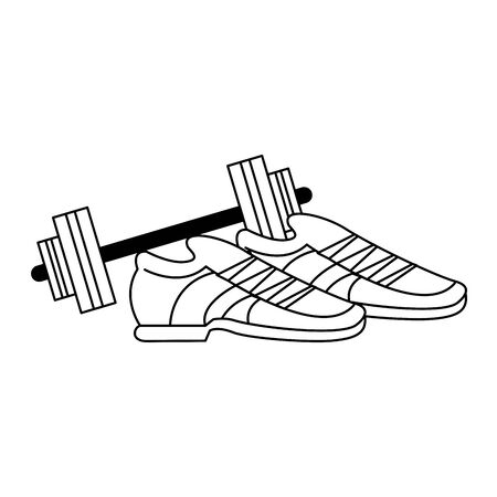 fitness sport heatlhy lifestyle, gym and healthy objects cartoon vector illustration graphic design 向量圖像