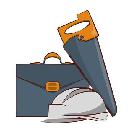 engineering construction factory industry, heavy work and business tools equipment isolated cartoon vector illustration graphic design