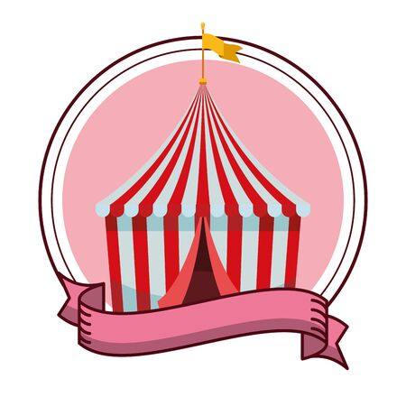 big top on pink background isolated vector illustration graphic design