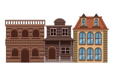 Urban buildings and city architecture, modern classics and antiques real estates edifices vector illustration graphic design. Фото со стока - 129272899