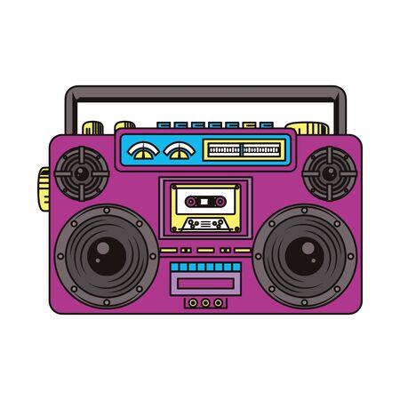 retro vintage pop art recorder cartoon vector illustration graphic design