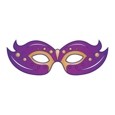 festive carnival party purple mask decoration cartoon vector illustration graphic design