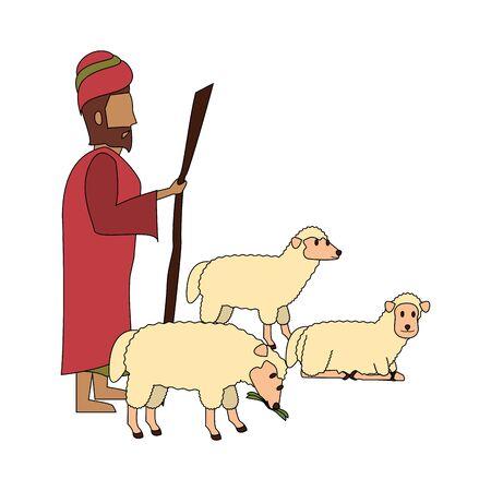merry christmas nativity christian manger catholic religion december biblical wise man scene cartoon vector illustration graphic design 일러스트