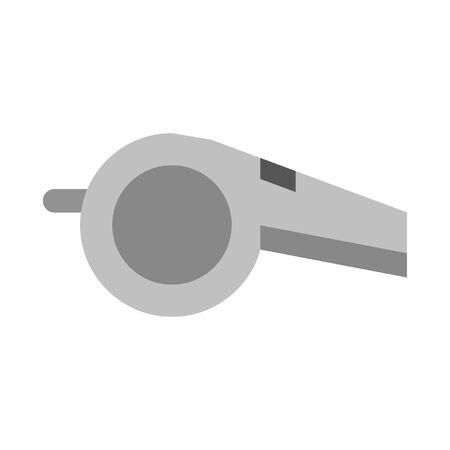 Sport referee whistle isolated cartoon vector illustration graphic design 向量圖像